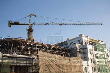 Crane on building reconstruction