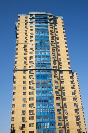 High yellow modern multi-storey building