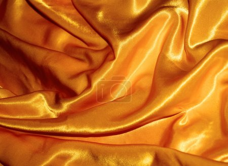 Golden silk, texture or background