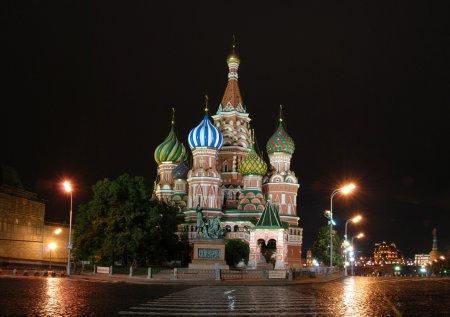 St. Basil Cathedral, Red Square, Moscow, Russia