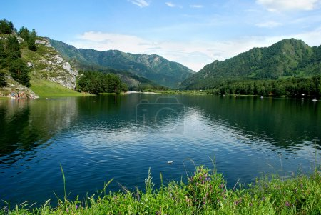 Mountain lake, Altai, Russian