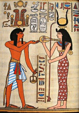 Photo pour Image de la déesse égyptienne - Isis, pharaon d'Egypte - image libre de droit