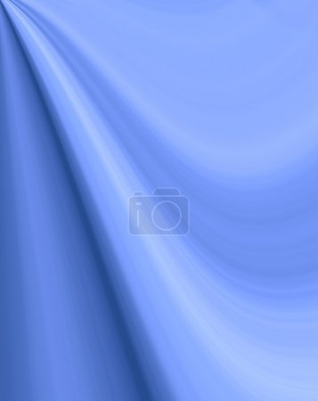 Abstract blue background for text, wave fabric