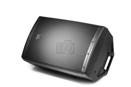 floor audio speaker PA monitor, isolated on white