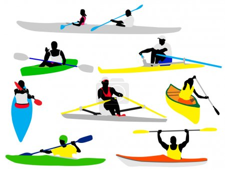 Canoe and kayak rowers