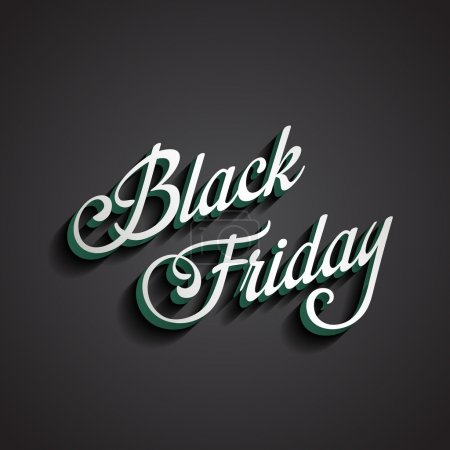 Black Friday type calligraphic typography. Sale Discount Calligr