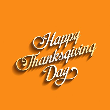 Illustration for Happy Thanksgiving Day Calligraphy Greeting card Poster design template - Royalty Free Image