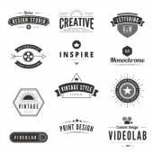 Vintage Retro Logos Labels vector template