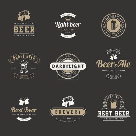 Modèle de lettrage de typographie vectorielle de conception rétro Hipster Logo .