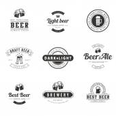 Beer Hipster Logo design vector typography lettering templates