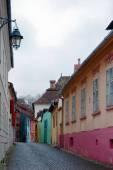 Ulice s barevnými domky