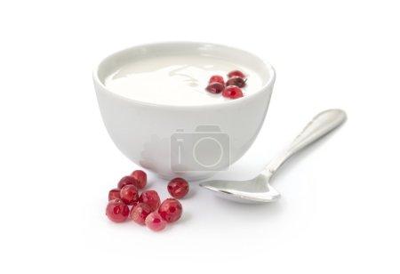 Yogurt with red berries