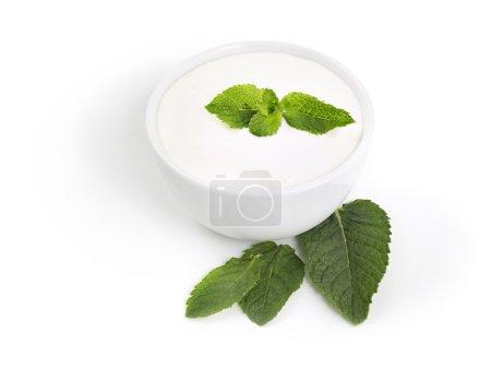 White mint yogurt