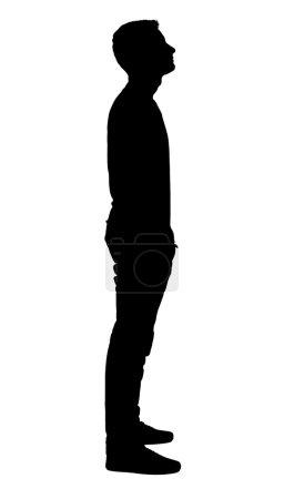 Photo pour Portrait de la silhouette du garçon debout. - image libre de droit
