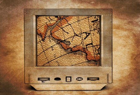 Treasure map on TV