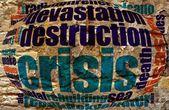 Válság szó felhő