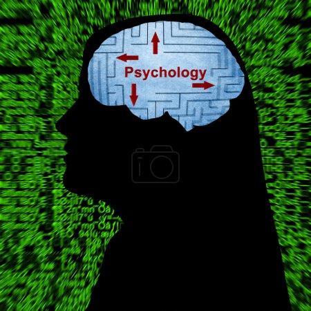 Psychology in mind concept
