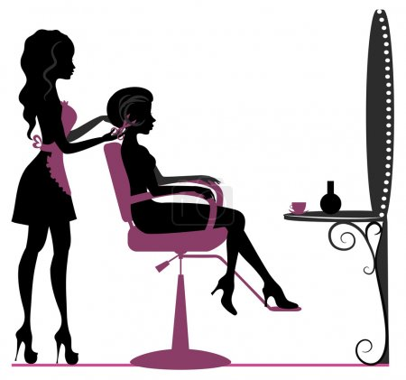Girl in beauty salon