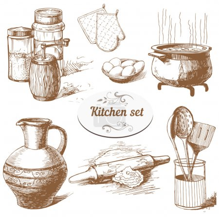 Kitchen related objects
