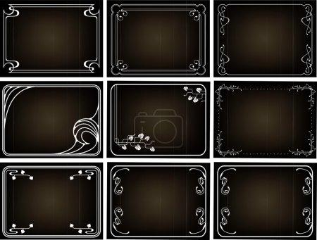 Old silent movie frames