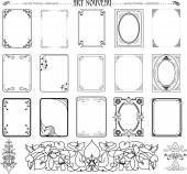 Set of frames and elements