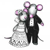Wedding mouses Couple in love Romantic concept