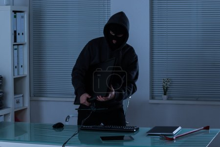 Thief Stealing Computer