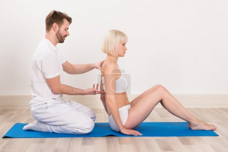 Chiropractor Doing Physio Therapy