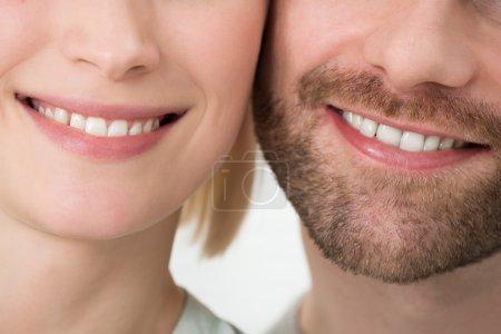 Foto de Close-up foto de pareja joven con sonrisa Toothy - Imagen libre de derechos