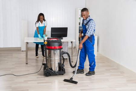 Male And Female Janitors