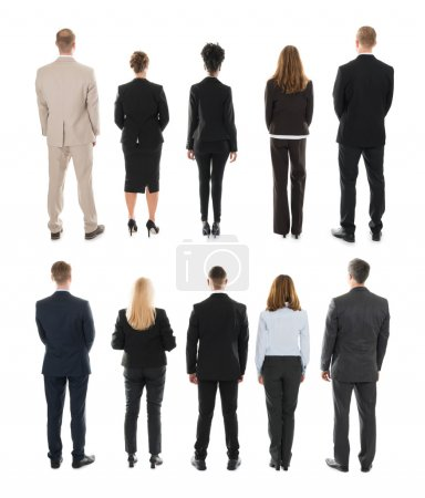 Businesspeople Standing In Row