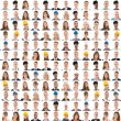 Collage Of People From Different Occupations Smili...