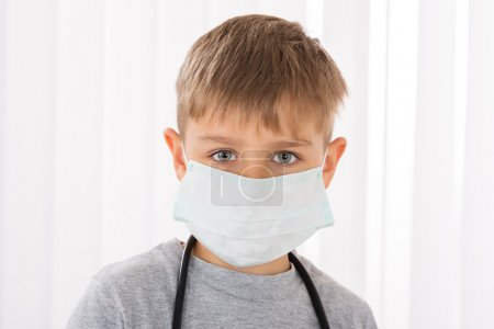Boy Doctor With Surgical Mask