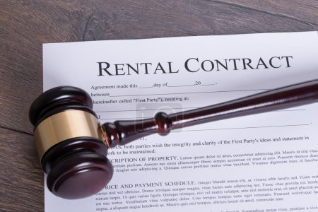 Rental contract legal concept