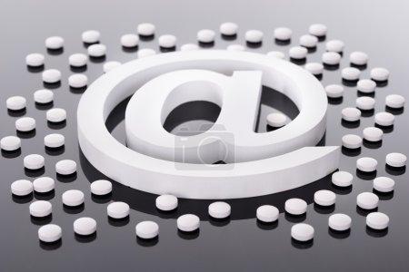 At Internet Symbol on Black
