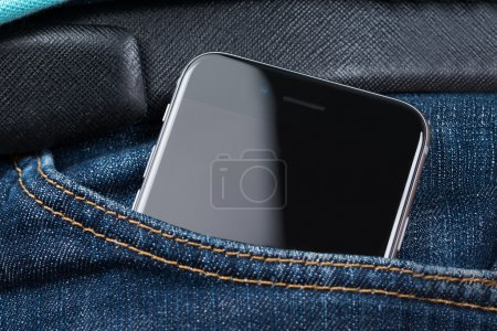 Closeup Of Apple iPhone 6 In Pocket