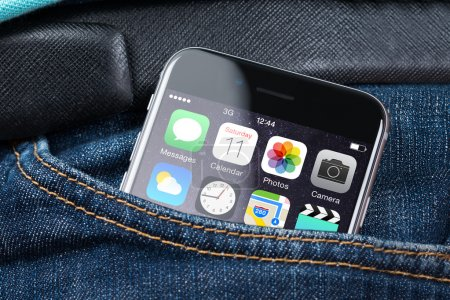 Apple iPhone 6 With Various Apps On Screen In Pocket