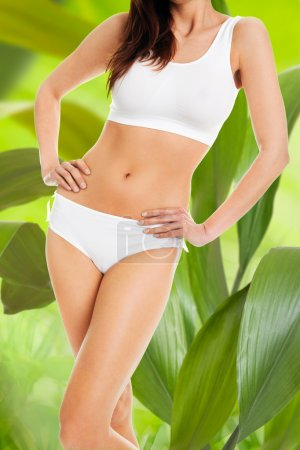 Slim Woman In Innerwear