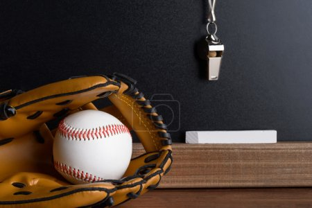 Whistle, Chalk And Baseball Glove