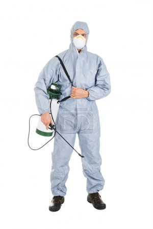 Pest Control Worker With Sprayer