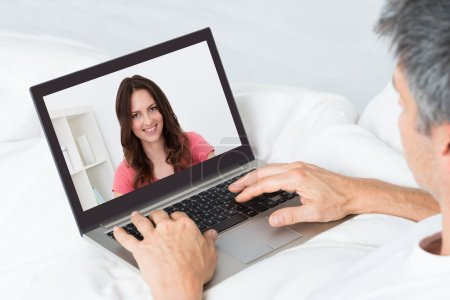Man Chatting With Woman