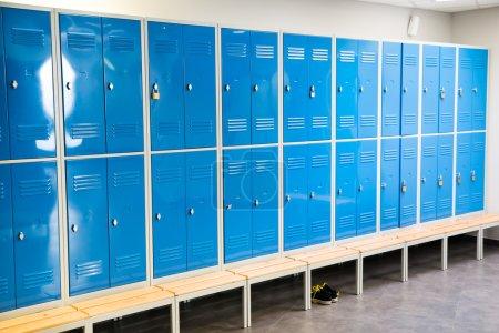 Blue Lockers In Room
