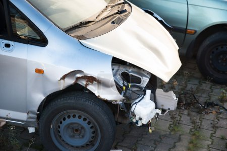 Photo for Close Up Of Car Smashed In Accident - Royalty Free Image