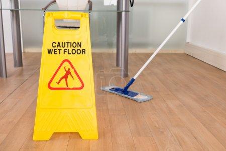 Wet Floor Sign And Mop