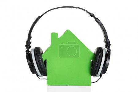 House Model With Headphones