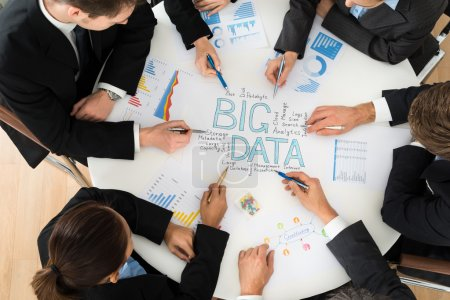 Businesspeople  Planning Big data