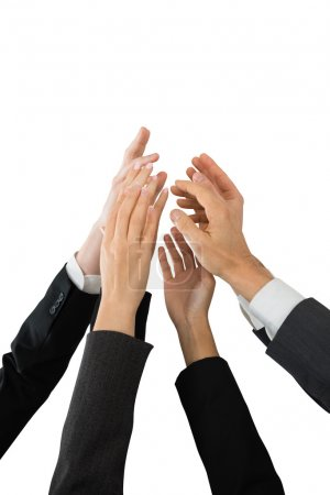 Businesspeople Giving High-five