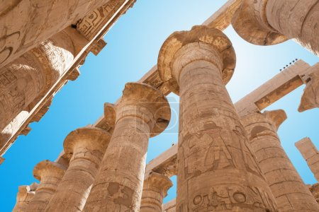 Low Angle View Of Columns In Karnak Temple, Luxor,...