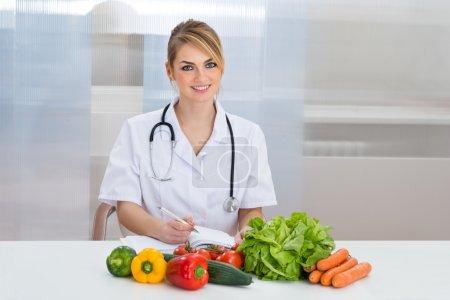 Happy Female Dietician