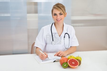Dietician Writing Prescription